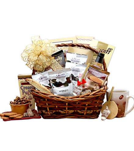 Life Begins with Coffee Gift Basket