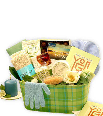 Namaste Yoga & Green Tea Gift Basket