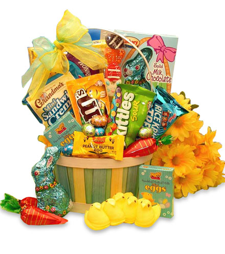 Easter Surprise of Sweets and Treats Gift Basket