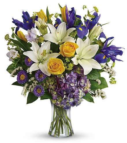 Floral Spring Iris Bouquet From  $110