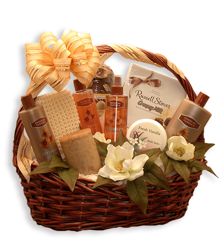 Luxurious Vanilla Bath and Body Basket