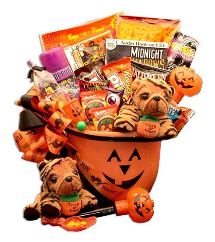 Pumpkin Pail Halloween Gift Basket