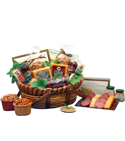 All The Favorites Meat and Cheese Gift Basket