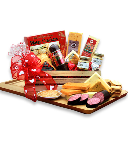 Meat and Cheese Valentine's Day Crate