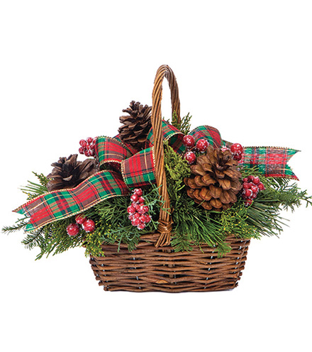 Bright Evergreen Basket