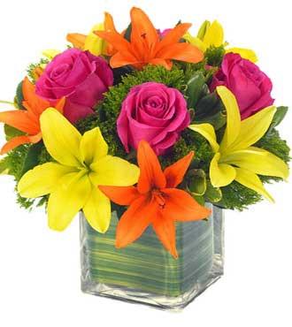 Lovely Lily & Rose Celebration Bouquet - Great