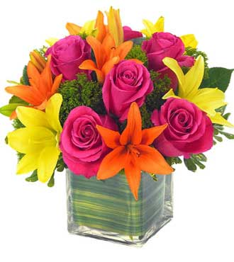 Lovely Lily & Rose Celebration Bouquet - Greater