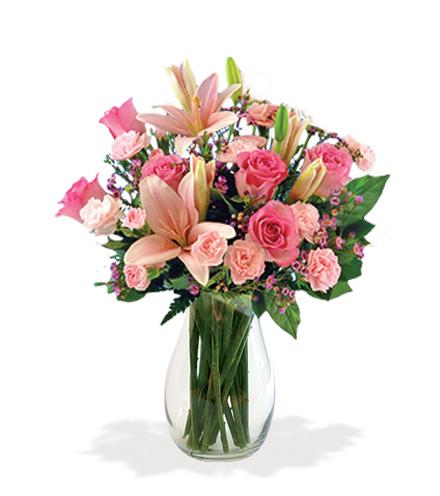 Pink Celebration Bouquet Flower Delivery