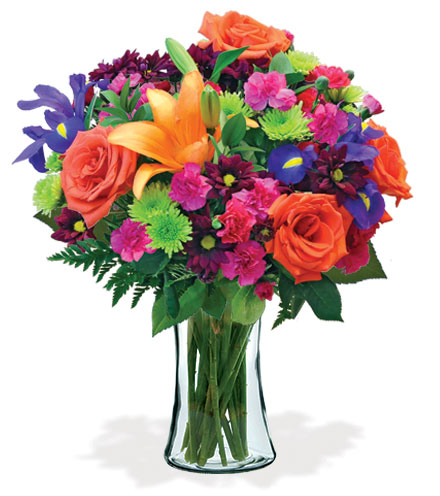 Vibrant Garden Bouquet Flower Delivery
