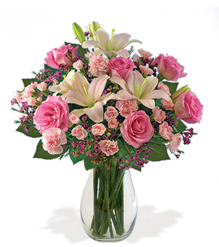 Pleasantly Pink Celebration Bouquet Flower Delivery