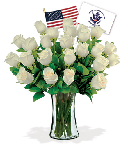 24 White Roses - Coast Guard Flower Delivery