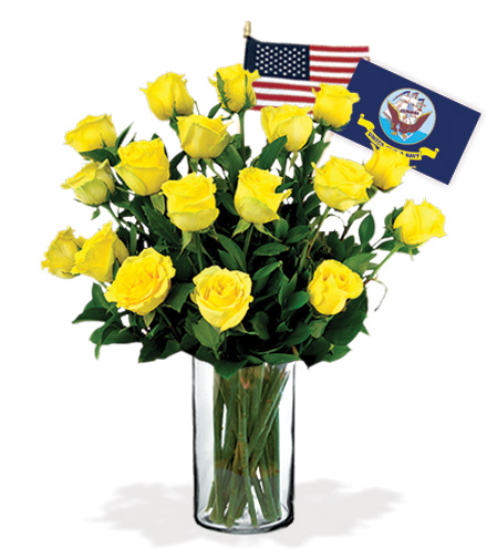 18 Yellow Roses - Navy Flower Delivery