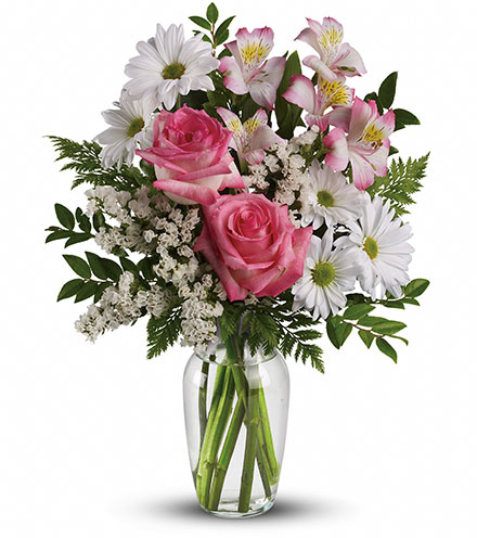 What a Treat Bouquet with Roses Flower Delivery