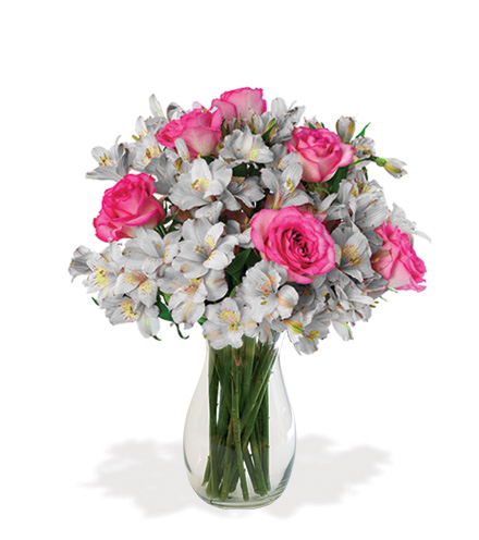 Shimmering Blush Bouquet Flower Delivery