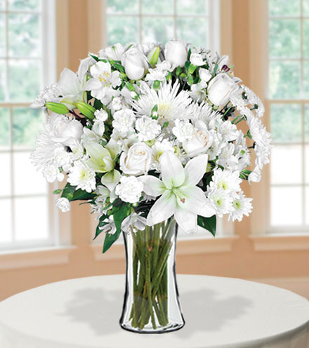 Classic All White Bouquet | Just Because Flowers